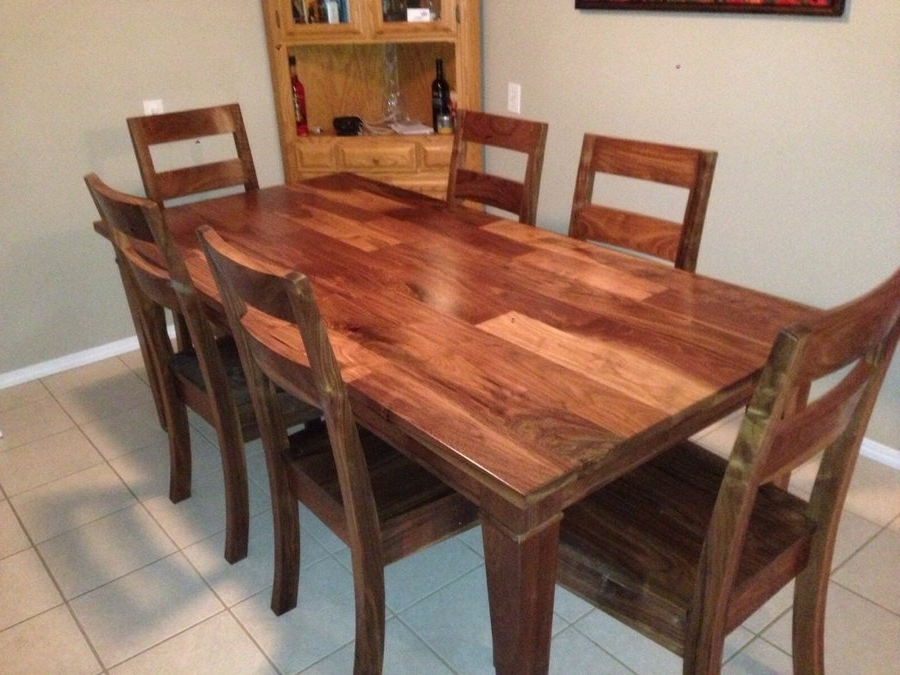 Walnut Dining Room Set  Jeff Tobert @ Lumberjocks With Regard To Well Known Walnut Dining Tables And Chairs (View 10 of 20)