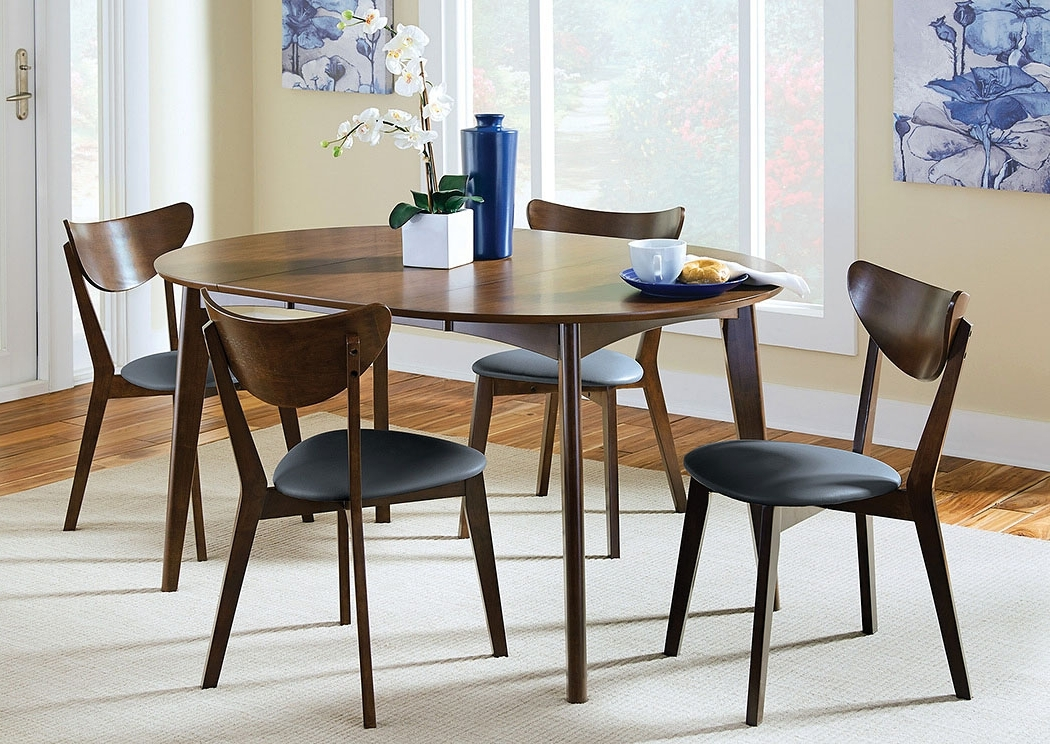 Walnut Dining Table And 6 Chairs Regarding Recent Blt Furniture Walnut Dining Table W/6 Chairs (View 16 of 20)