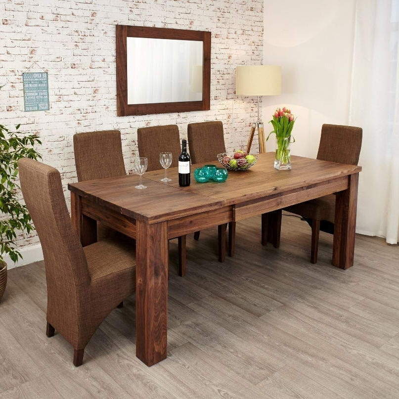Walnut Dining Tables And 6 Chairs For Well Known Mayan Walnut Extending Dining Table • Akd Furniture (View 15 of 20)