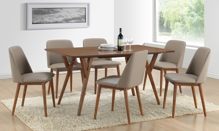 Walnut Dining Tables And 6 Chairs Throughout Trendy Lavin Dining Table With 6 Chairs (View 16 of 20)