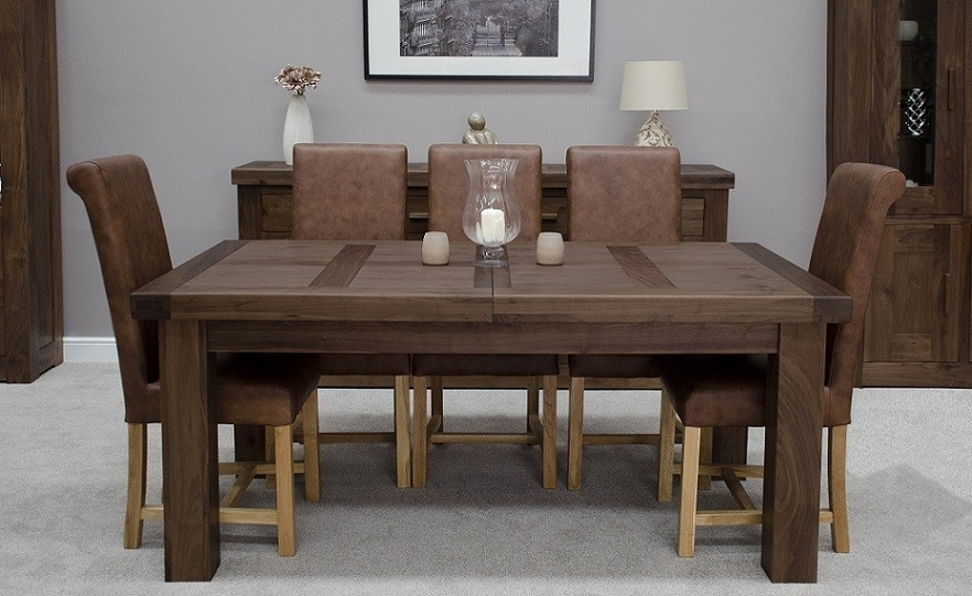 Walnut Dining Tables And Chairs In 2018 Walnut Dining Tables And Chairs – Durable Walnut Dining Table (View 17 of 20)