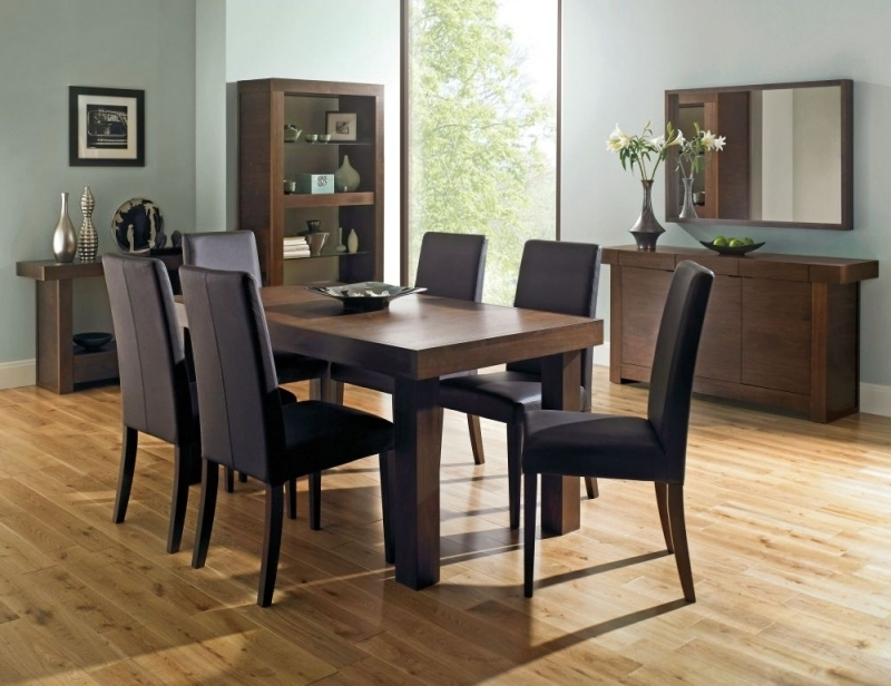 Walnut Dining Tables And Chairs Intended For Most Up To Date Buy Bentley Designs Akita Walnut Rectangular Extending Dining Table (View 8 of 20)