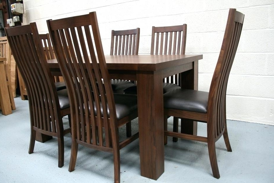 Walnut Dining Tables And Chairs Pertaining To Most Current Decoration: Walnut Dining Room Chairs (View 14 of 20)