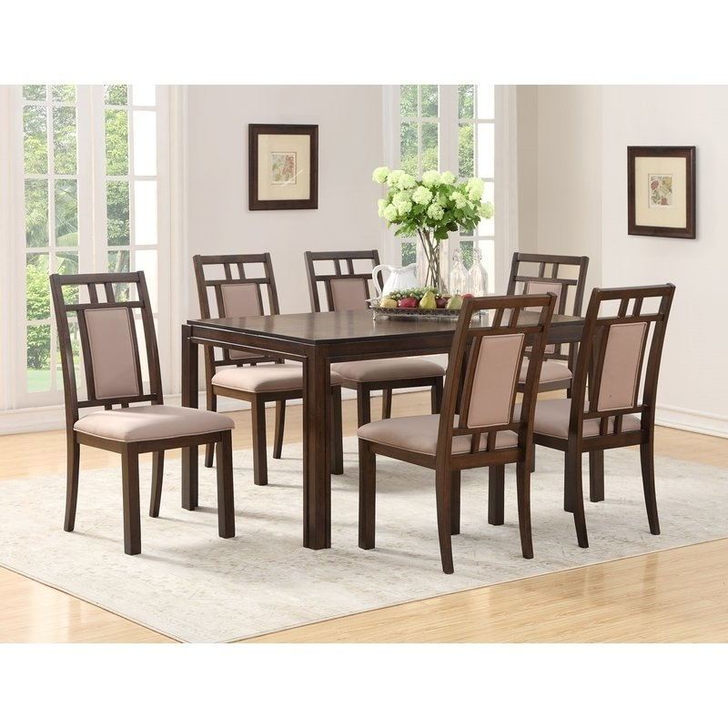 20 Best Collection of Parquet 7 Piece Dining Sets