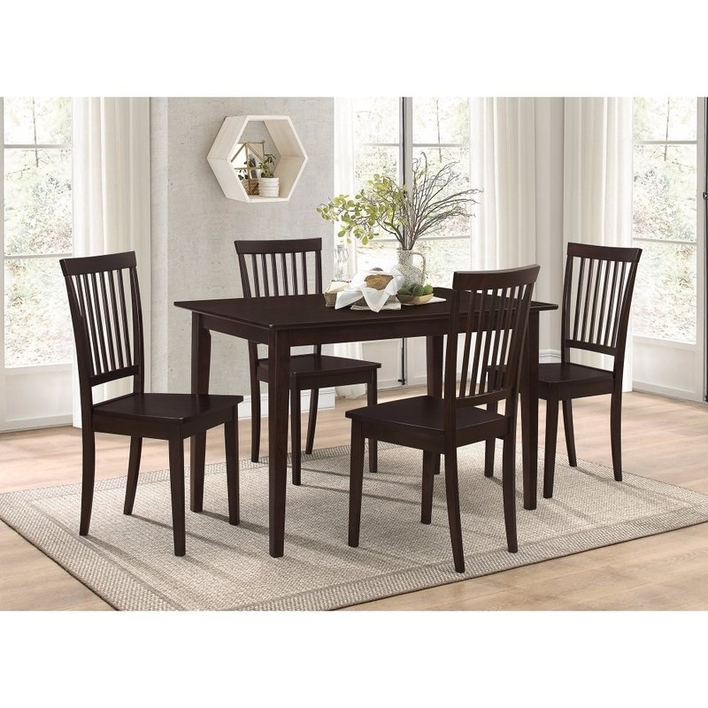 Wayfair In Candice Ii 7 Piece Extension Rectangular Dining Sets With Slat Back Side Chairs (View 18 of 20)