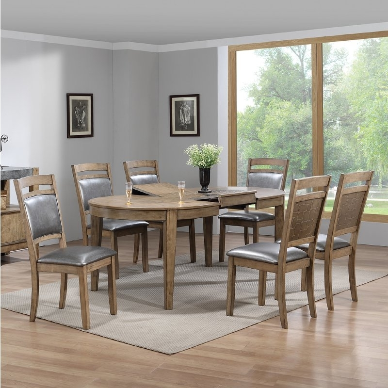 Wayfair In Famous Caira 7 Piece Rectangular Dining Sets With Upholstered Side Chairs (View 9 of 20)