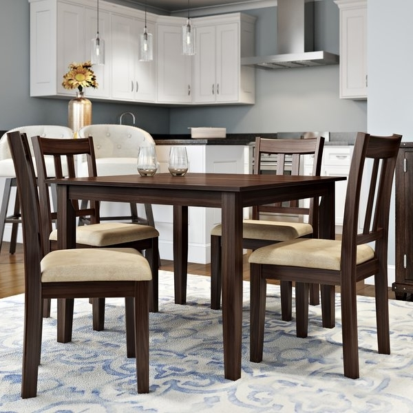 Wayfair Inside Craftsman 5 Piece Round Dining Sets With Uph Side Chairs (View 17 of 20)