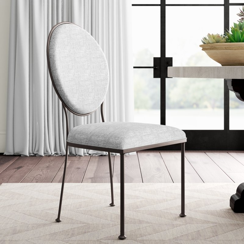 Wayfair Pertaining To 2018 Caira Black 7 Piece Dining Sets With Upholstered Side Chairs (View 17 of 20)