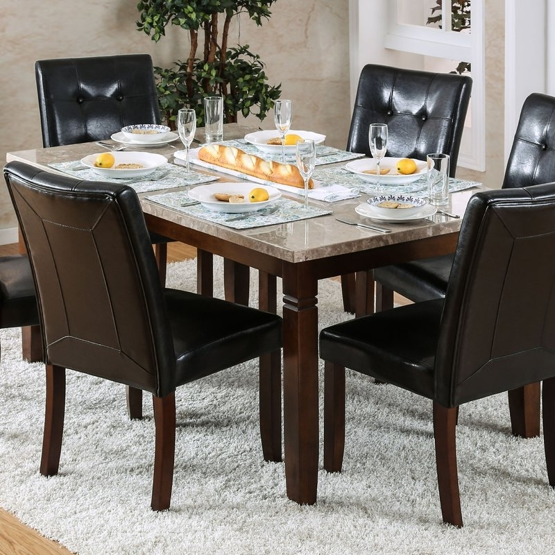 Wayfair Pertaining To Candice Ii 7 Piece Extension Rectangular Dining Sets With Uph Side Chairs (View 18 of 20)