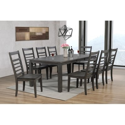 Wayfair Throughout Caira 9 Piece Extension Dining Sets With Diamond Back Chairs (View 16 of 20)