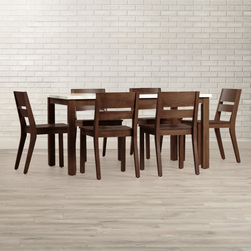 Wayfair Throughout Candice Ii 7 Piece Extension Rectangular Dining Sets With Slat Back Side Chairs (View 19 of 20)
