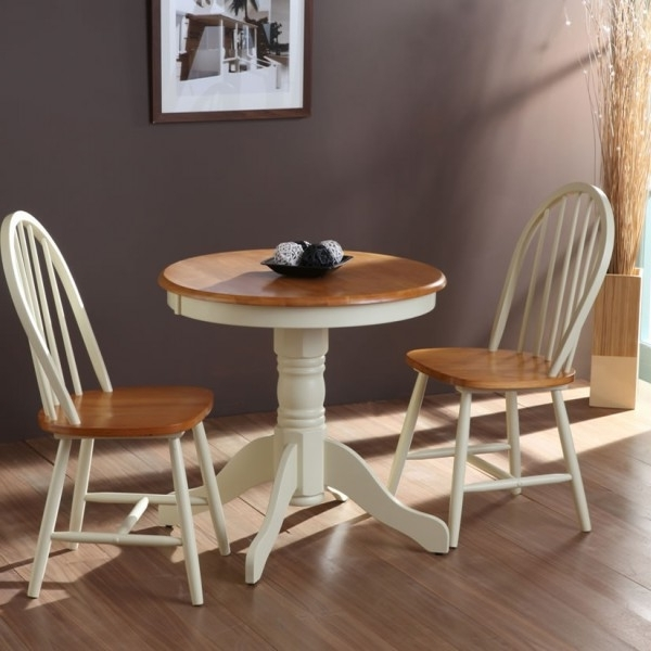 Weald Round Breakfast Table And Chairs Traditional Rounding With Intended For Preferred Dining Tables And Chairs For Two (View 4 of 20)