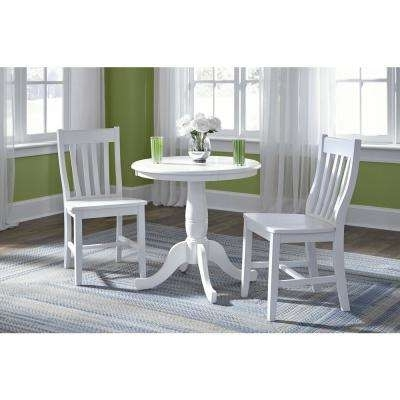 Weaver Dark 7 Piece Dining Sets With Alexa White Side Chairs Within Well Known White – International Concepts – Furniture – The Home Depot (View 19 of 20)