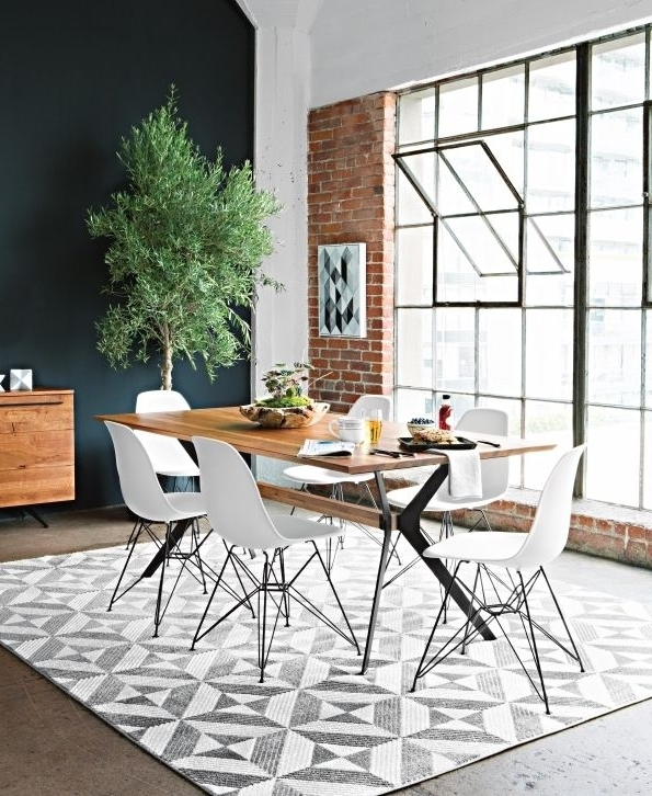 Weaver Ii Dining Tables Inside 2017 Weaver Dining Table + White Alexa Side Chairs (View 3 of 20)