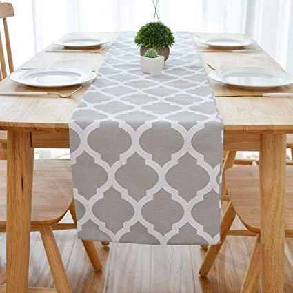 Weaver Ii Dining Tables Regarding Current Amazon: Natus Weaver Lattice Cotton Table Runner For Dining Room (View 6 of 20)