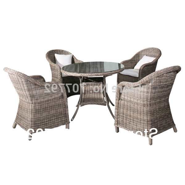 Well Known 2014 Garden Style 5 Piece Rough Rattan Dining Table And Chairs Set With Rattan Dining Tables And Chairs (View 15 of 20)