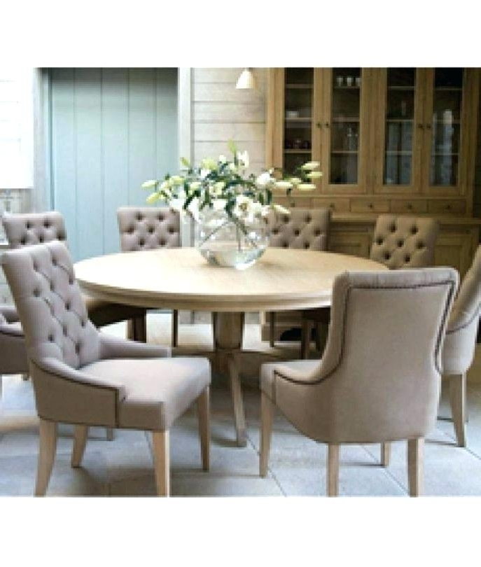 Well Known 6 Chair Dining Table Sets Throughout 60 Inch Round Dining Table With 6 Chairs Rustic Round Dining Table (View 18 of 20)
