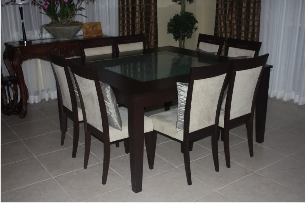 Well Known 8 Seater Black Dining Tables With Regard To Great 6 8 Seater Glass Dining Table Black Powder Coated Legs – (View 11 of 20)