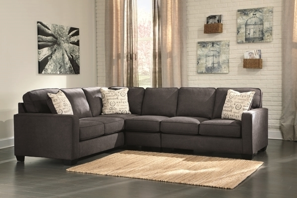 Well Known Alenya Charcoal 3 Piece Right Arm Facing Sectional – Sectionals For Sierra Foam Ii 3 Piece Sectionals (View 14 of 15)