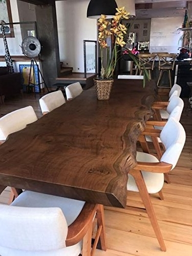 Well Known Amazon – Dark Solid Wooden Dining Table With Beautiful Live Edge Pertaining To Dark Solid Wood Dining Tables (View 19 of 20)