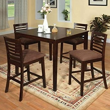 Well Known Amazon – Sydney Counter Height 5 Piece Dining Set – Table In Cora 5 Piece Dining Sets (View 20 of 20)
