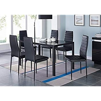 Well Known Amos 7 Piece Extension Dining Sets With Amazon – Furniture Of America Dalcroze 7 Piece Modern Dining Set (View 20 of 20)