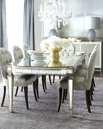 Well Known Antique Mirror Dining Tables In Mirror Dining Table Small Mirror Dining Room Table Chair Antiqued (View 20 of 20)