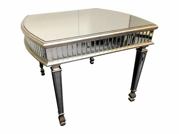 Well Known Antique Mirror Dining Tables Pertaining To Antique Silver Mirrored Dining Table  Mirrored Dining Table  Antique (View 18 of 20)