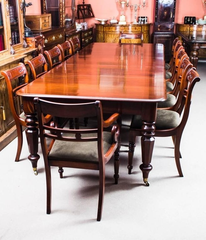 Well Known Antique William Iv Mahogany Extending Dining Table And 12 Chairs At Regarding Mahogany Extending Dining Tables And Chairs (View 18 of 20)