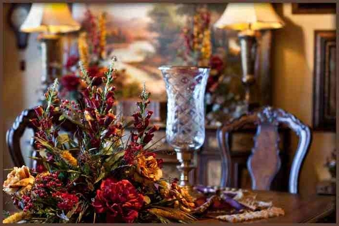 Well Known Artificial Floral Arrangements For Dining Tables With Regard To Large Dining Table Centerpiece Silk Flower Arrangement (View 20 of 20)