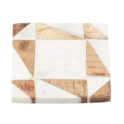 Well Known Artisanal Dining Tables In Amazon: Artisanal Creations Set Of 4 Handcrafted Marble And Wood (View 18 of 20)