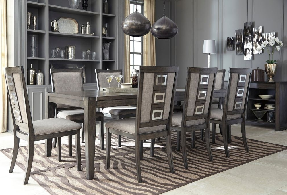 Well Known Ashley Furniture Chadoni 9 Piece Smokey Grey Dining Room Set D624 Within Craftsman 9 Piece Extension Dining Sets With Uph Side Chairs (View 19 of 20)