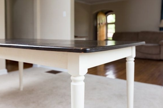 Well Known Bale Rustic Grey Dining Tables Pertaining To Dark Walnut Rustic Dining Table – Farm Style Solid Pine Wood Kitchen (View 20 of 20)