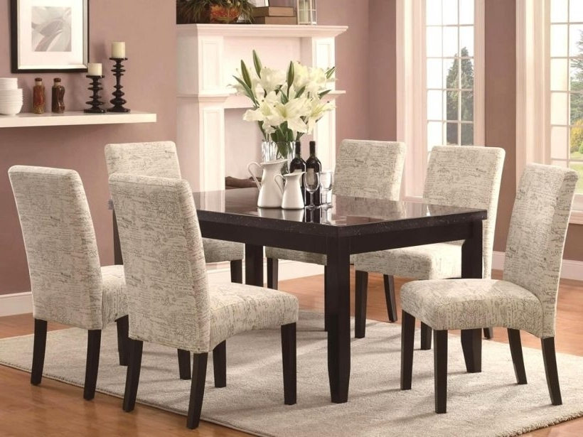 Well Known Best Fabric For Reupholstering Dining Room Chairs Lovely Dining Pertaining To Fabric Dining Room Chairs (View 19 of 20)