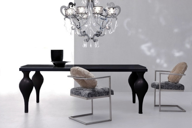 Well Known Black Dining Tables Pertaining To Devereaux – Black Dining Table (View 19 of 20)