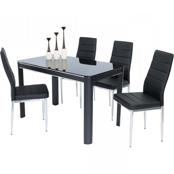 Well Known Black Gloss Dining Tables Regarding Sweet Slim 70 Cm Wide Narrow Black Gloss Dining Table (View 19 of 20)