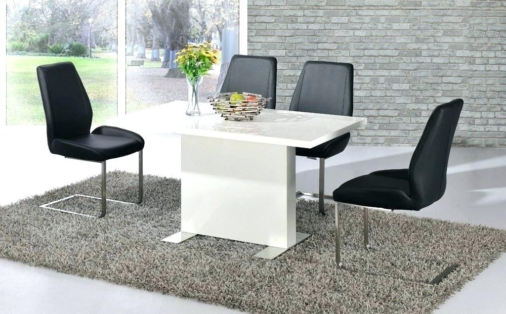 Well Known Black High Gloss Dining Tables And Chairs With Regard To High Gloss Dining Table White And Chairs Black Set Leather Glossy (View 19 of 20)