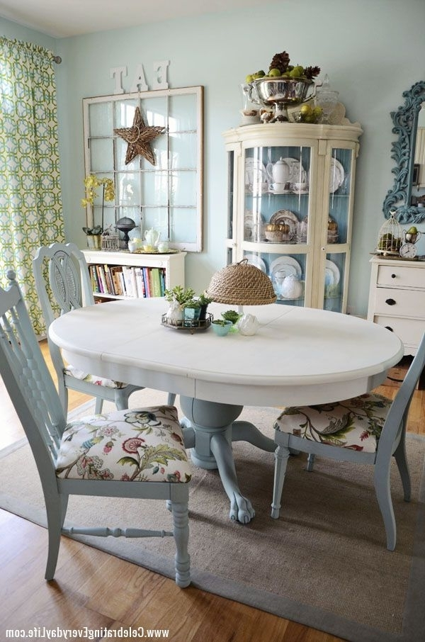 Well Known Blue Dining Tables In How To Save Tired Dining Room Chairs With Chalk Paint Right Now (View 7 of 20)