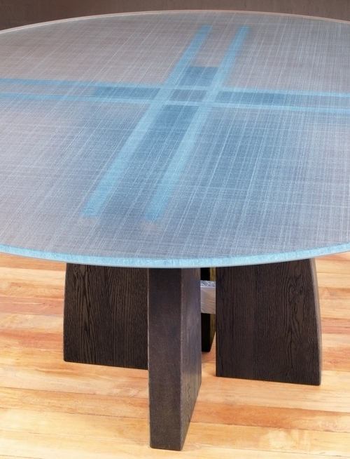 Well Known Blue Glass Dining Tables In Round Glass Top Dining Table (View 17 of 20)