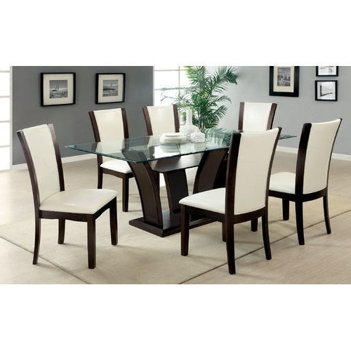 Well Known Brown, White 6 Seater Modern Dining Table, Rs 20000 /set (View 6 of 20)