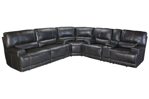 Well Known Burton Leather 3 Piece Sectionals Pertaining To Sectional Sale: Fabric, Leather & Reclining (View 9 of 15)