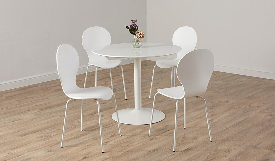 Well Known Buy George Home Wyatt Circular Dining Table And 4 Chairs – White In Wyatt Dining Tables (View 17 of 20)