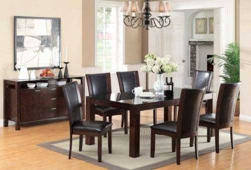 Well Known Candice Ii 7 Piece Extension Rectangular Dining Sets With Uph Side Chairs With Furniture Of America Renolds 7 Piece Dining Table Set With 10Mm (View 20 of 20)