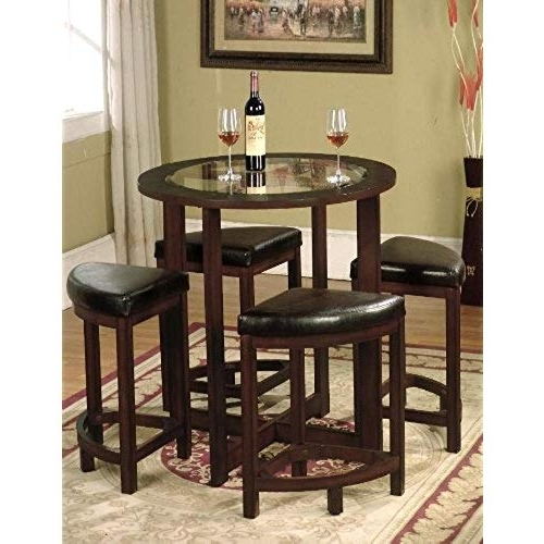 Well Known Carly 3 Piece Triangle Dining Sets Within Triangle Dining Table: Amazon (View 19 of 20)