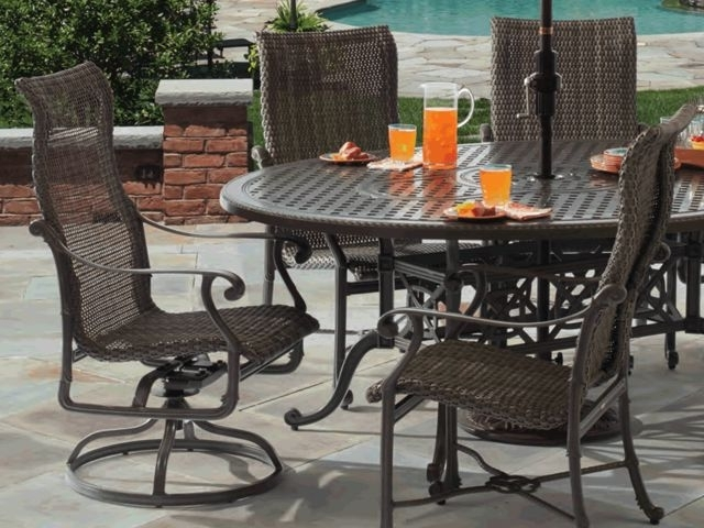 Well Known Cast Aluminum – Fortunoff Backyard Store Regarding Valencia 72 Inch 7 Piece Dining Sets (View 20 of 20)