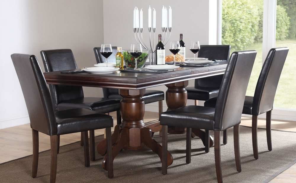 Well Known Chatsworth Dining Tables Pertaining To Best Black Wood Dining Table With Chatsworth & City Extending Dark (View 20 of 20)