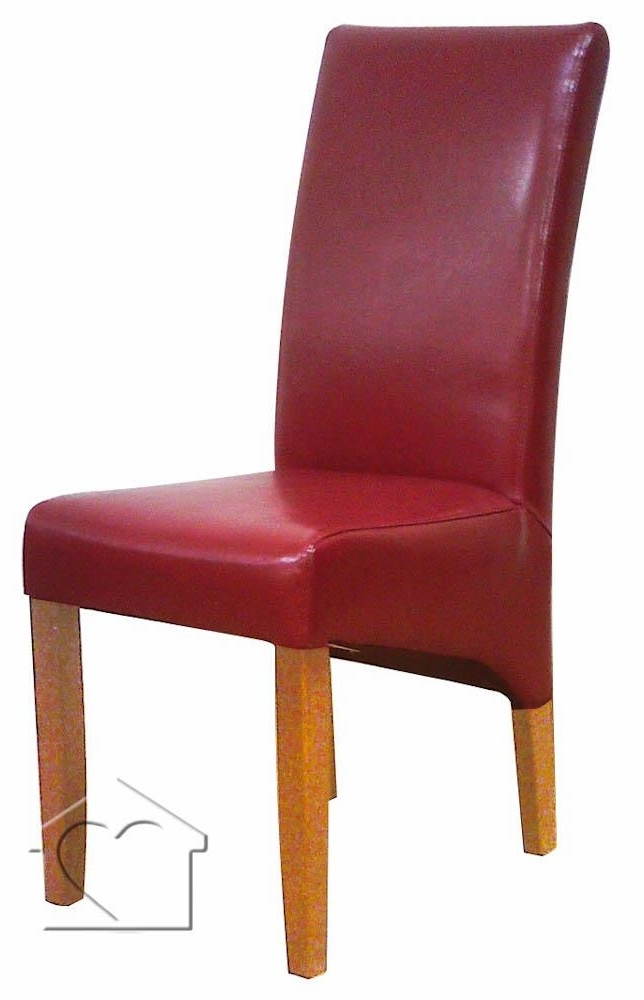 Well Known Cheltenham Red Leather Dining Chair X 2 – £ (View 20 of 20)