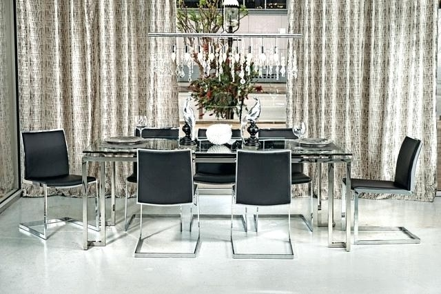 Well Known Chrome Dining Room Chairs Within Chrome Dining Table And Chairs Mid Century Modern And Chrome Dining (View 7 of 20)