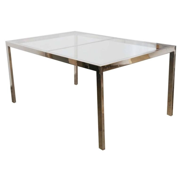 Well Known Chrome Glass Dining Tables Within Milo Baughman Chrome And Glass Dining Table At 1Stdibs (View 20 of 20)