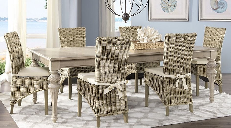 Well Known Cindy Crawford Home Key West Sand 5 Pc Rectangle Dining Room With Within Crawford Rectangle Dining Tables (View 19 of 20)